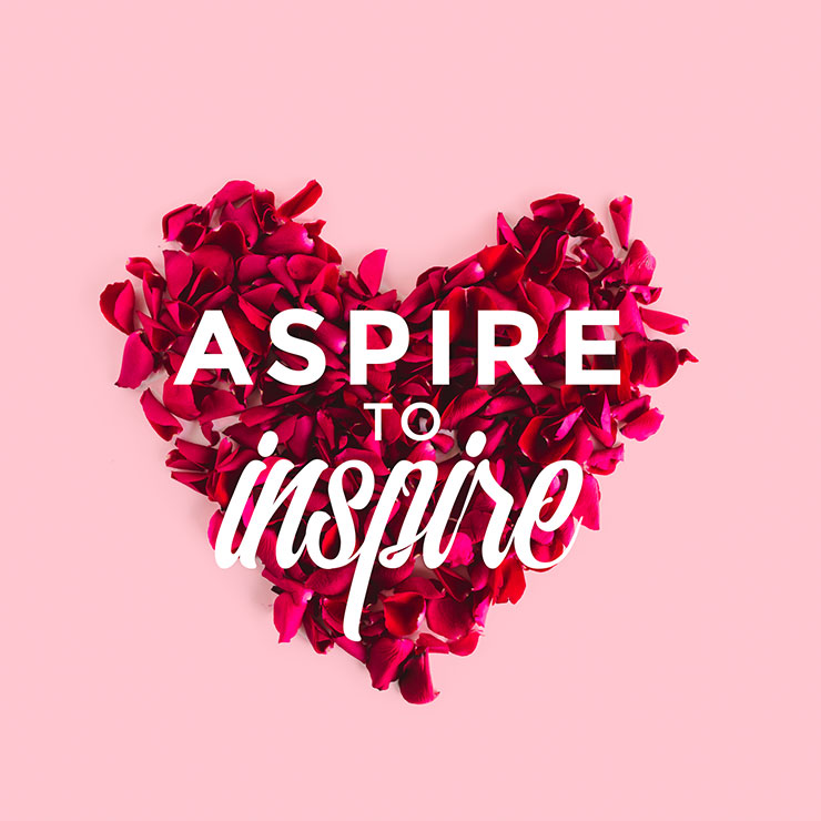 Aspire to inspire - Easil template
