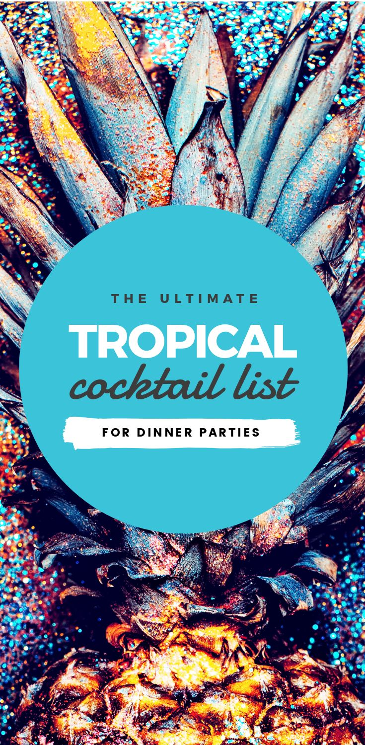 "Tropical Cocktail list: Hack Visual Design Series"": Pinterest Templates 10 Ways"
