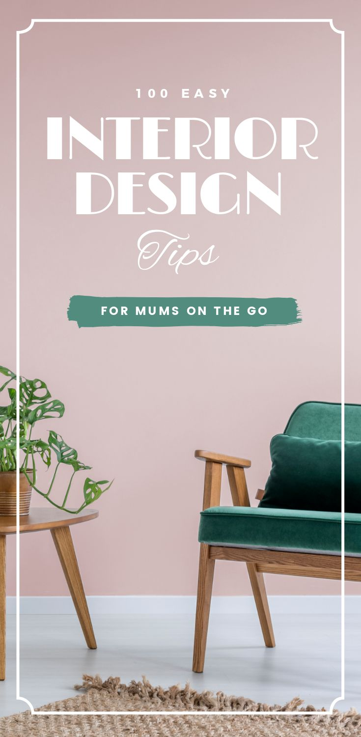 "Interior Design Tips Template! Click through to start designing with our NEW ""Hack Visual Design Series"": Pinterest Templates 10 Ways"