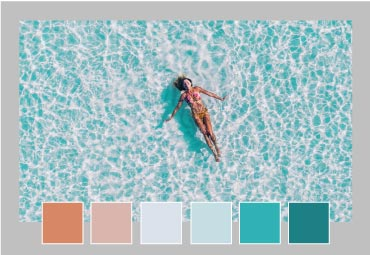 Use the Easil color picker to perfectly color co-ordinate our instagram story templates
