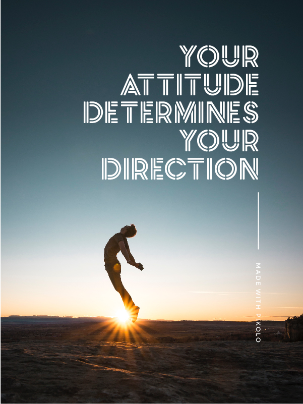 Quote made with Pikolo Free Font - Your attitude determines your direction - 73 Best Free Fonts to Create Stunning Designs