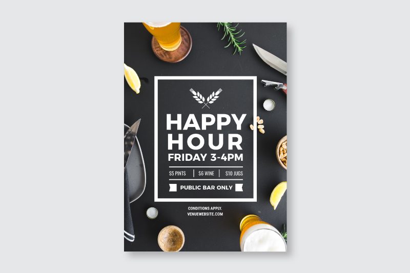Happy Hour Template (original design) - How to Use DIY Graphic Design Templates like a Pro