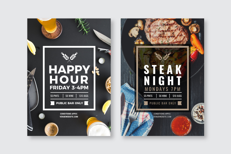 Changing out the text, font, image and colors on a graphic design template - How to Use DIY Graphic Design Templates like a Pro