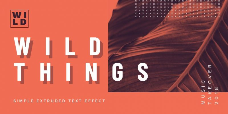 Simple Extruded Text Effect by Easil - 17 Ways to Use Text Effects to Create Stunning Graphics