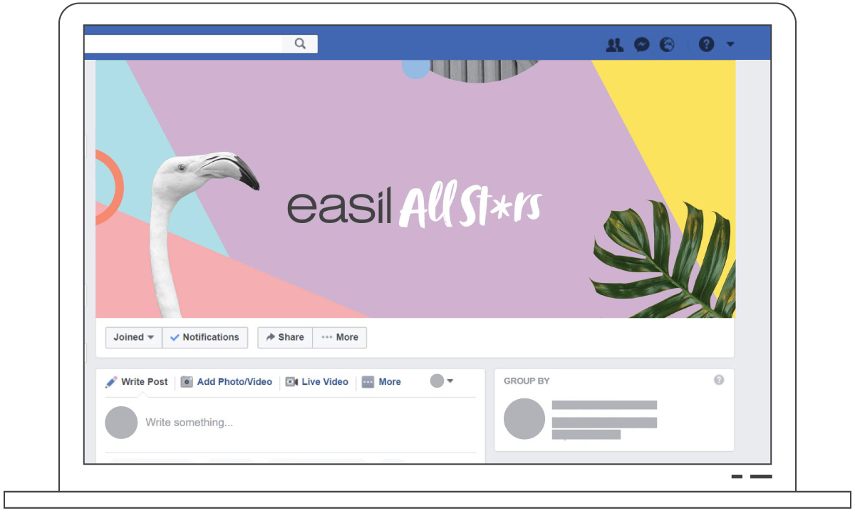 Easil All Stars Facebook Group Cover Image - How to Use Facebook Group Images to Rock Your Engagement