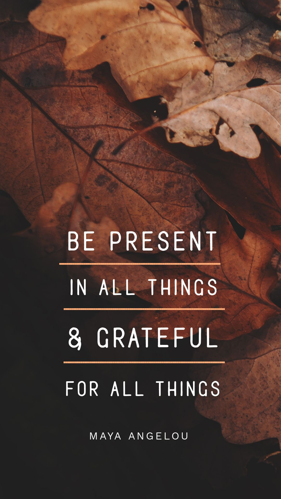 Maya Angelou Quote created in Easil - Thanksgiving Images and Ideas for Social Media (Seasonal Marketing Series)