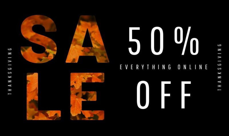 Fall Sale Image by Easil - Thanksgiving Images and Ideas for Social Media (Seasonal Marketing Series)