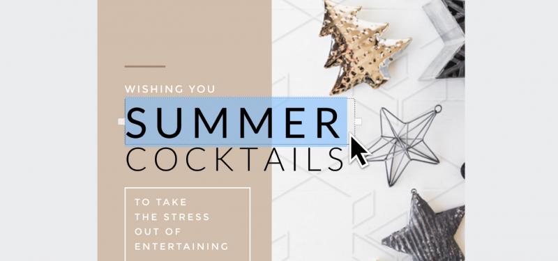 Summer Cocktails Instagram Graphic