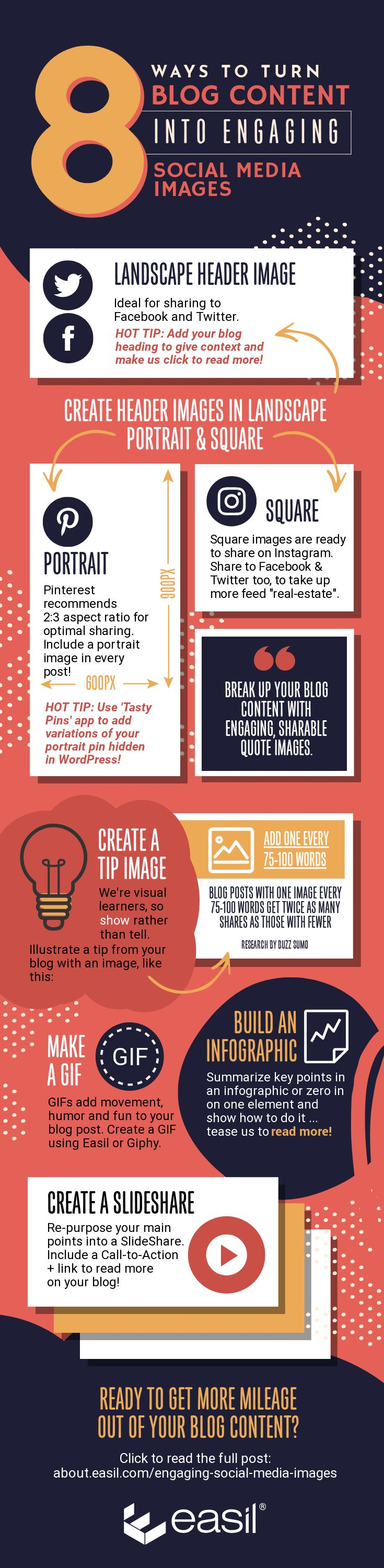 Infographic - 8 Ways to Turn Blog Content into Engaging Social Media Images