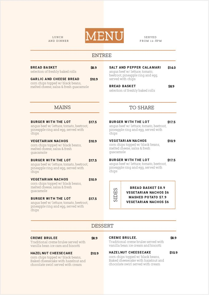 How to add block colored sections to your Menu Design - 1 Menu Template, 10 Ways - Hack Your Visual Design Series