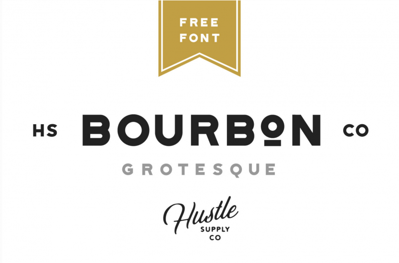 Bourbon Grotesque Font - 73 Best Free Fonts to Create Stunning Designs