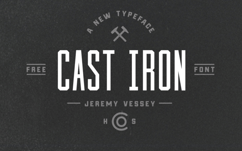 Cast Iron Free Font - 73 Best Free Fonts to Create Stunning Designs