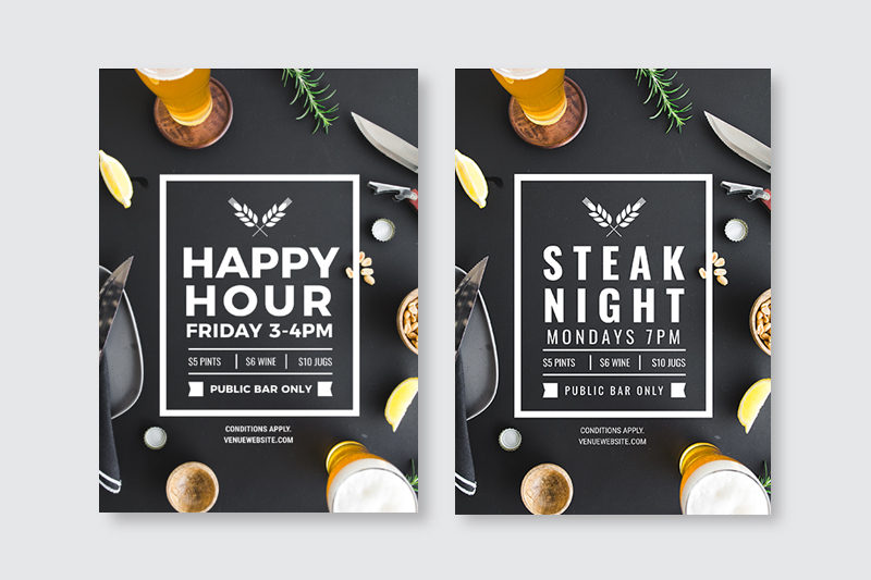 Changing out the text and font on a design template - How to Use DIY Graphic Design Templates like a Pro