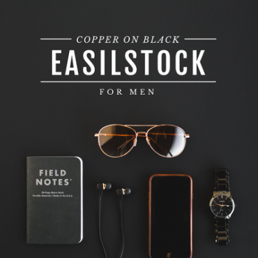 Copper and black styled stock photography collection