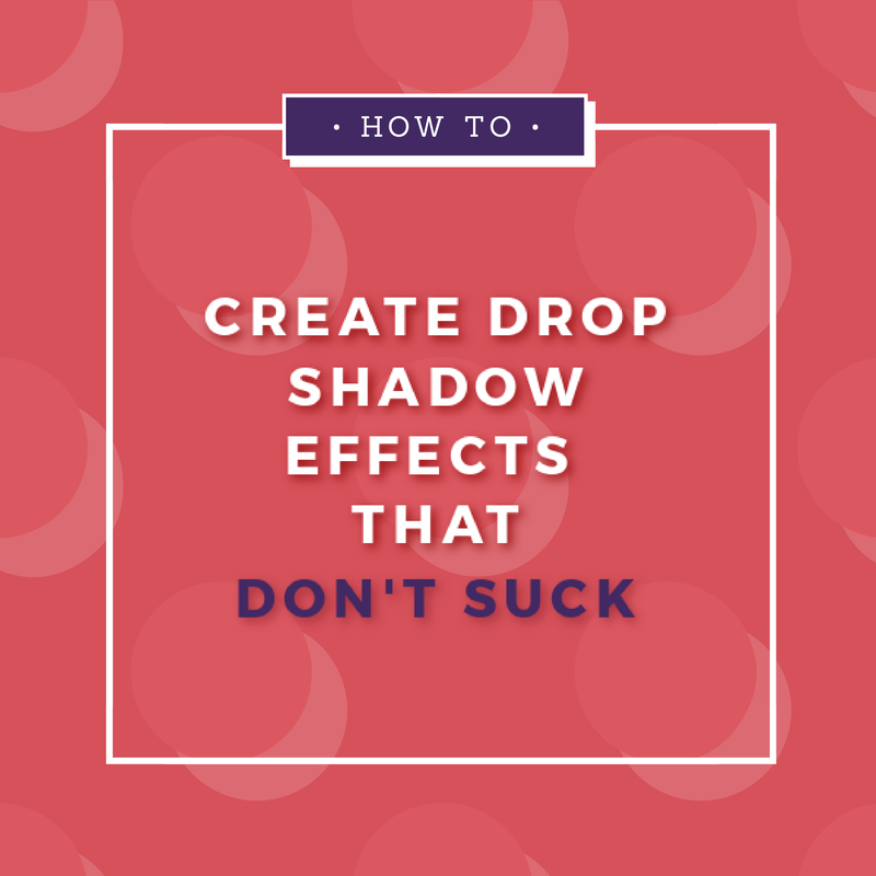 how to create drop shadows for text like a professional graphic designer