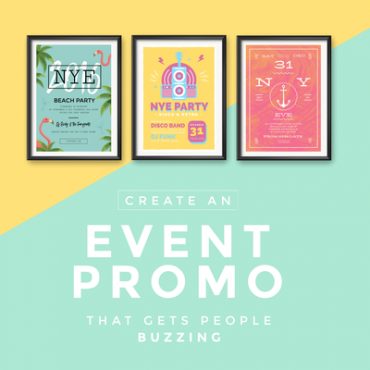 Event promotion graphic templates