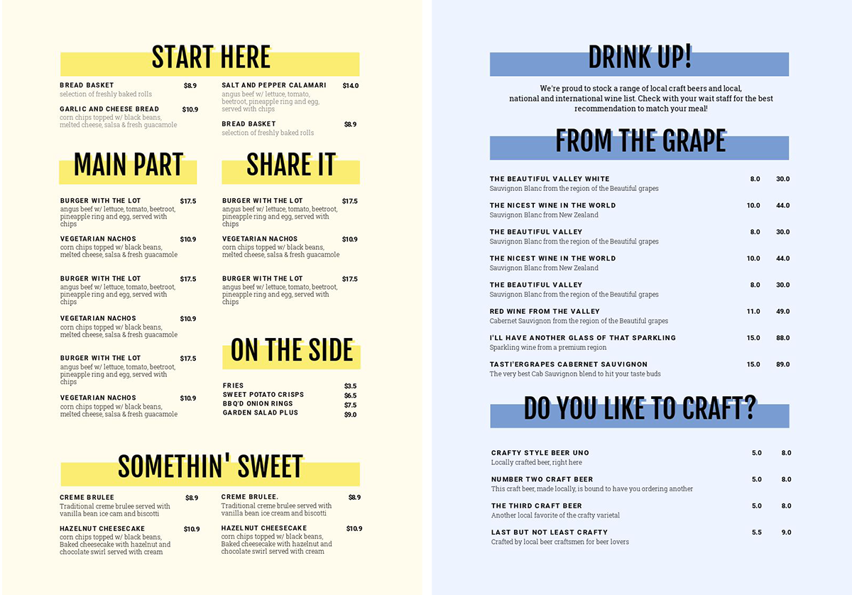 How to create a Multi-Page Menu Template design - 1 Menu Template, 10 Ways - Hack Your Visual Design Series