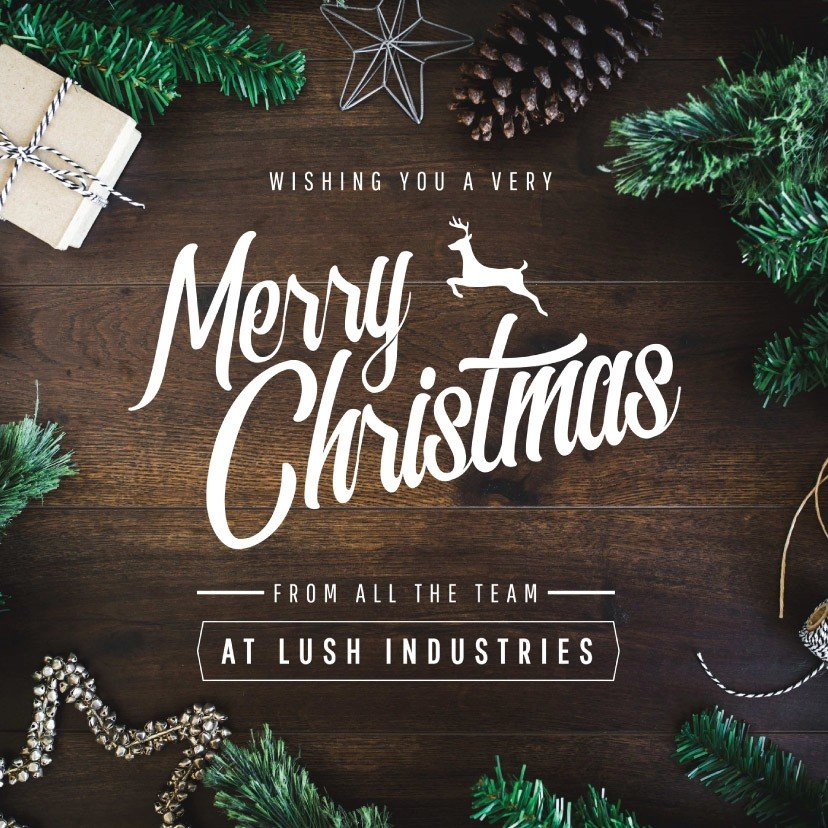 Christmas greeting Instagram template using festive styled stock