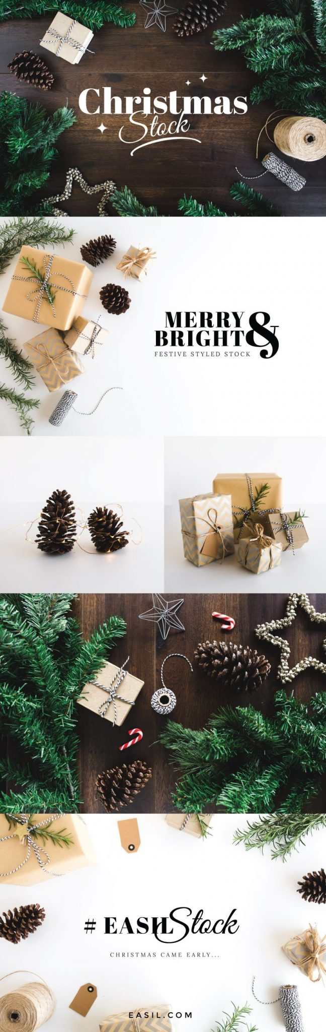Festive styled stock for the holiday season and christmas