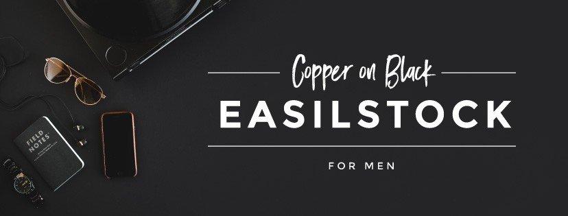 Copper on Black EasilStock Styled Stock for men