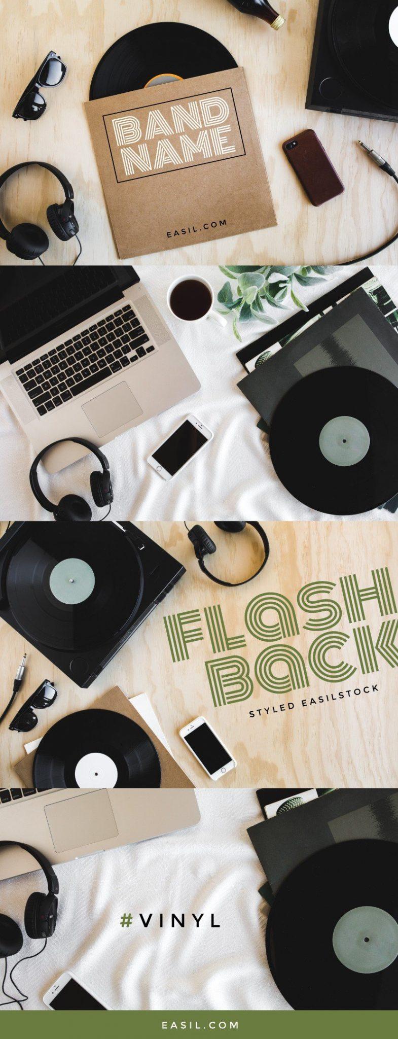 Music styled stock, vinyl records, EasilStock