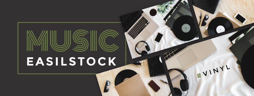 Music theme vinyl record styled stock photography