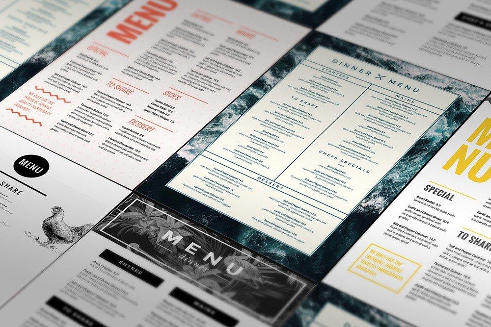 1 Menu Template, 10 Ways - Hack Your Visual Design Series