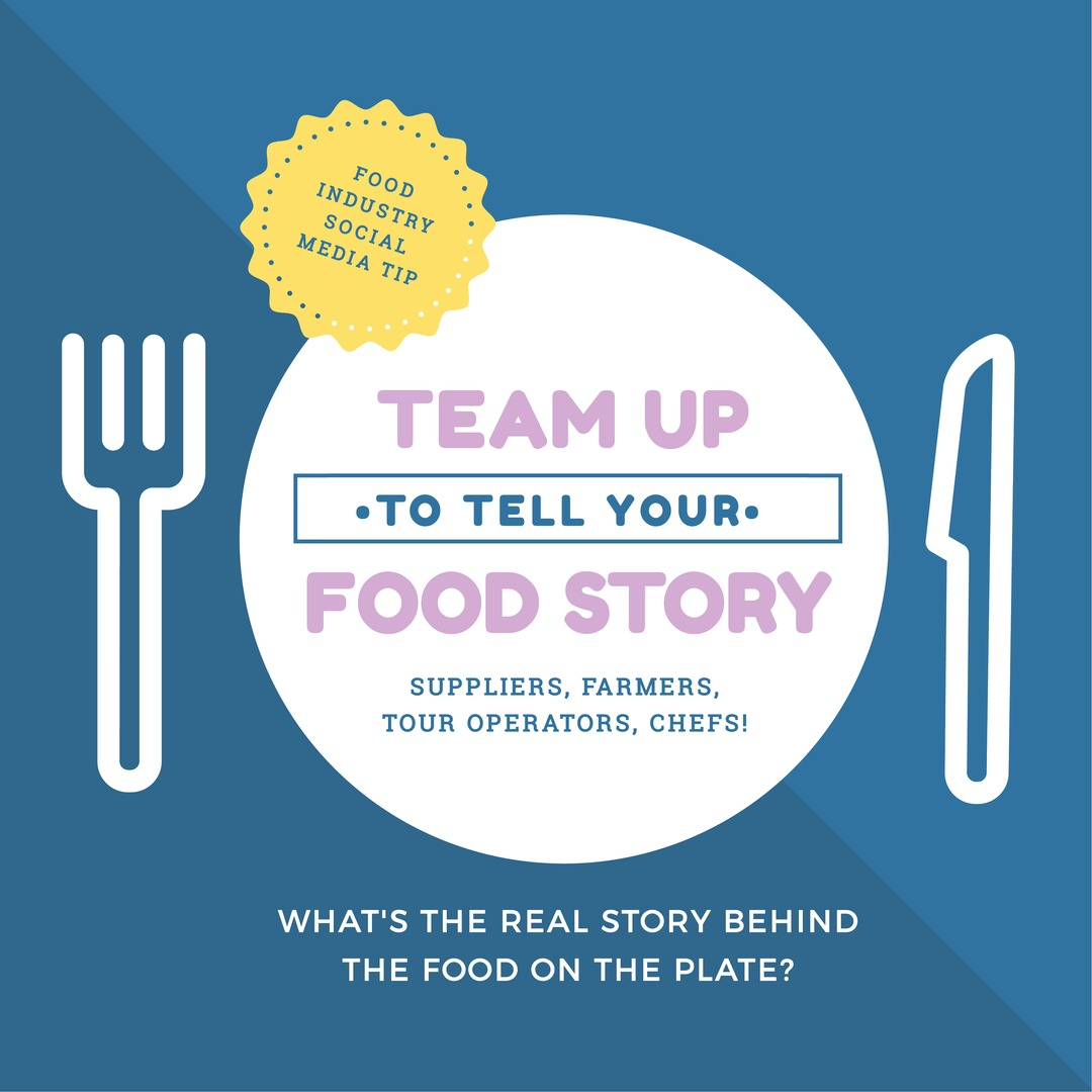 Food Industry social media tip - team up to tell your food story - Click to read about more Food Industry Trends Tips