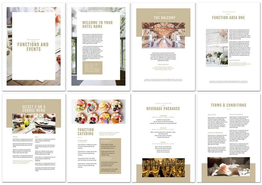 Create a Stunning Function Pack with Easil - How to Get More Event Bookings at your Venue in 2018 - 21 Easy Tips