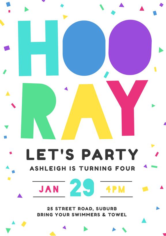 design-your-own-invitation-Birthday Party Invitation Template
