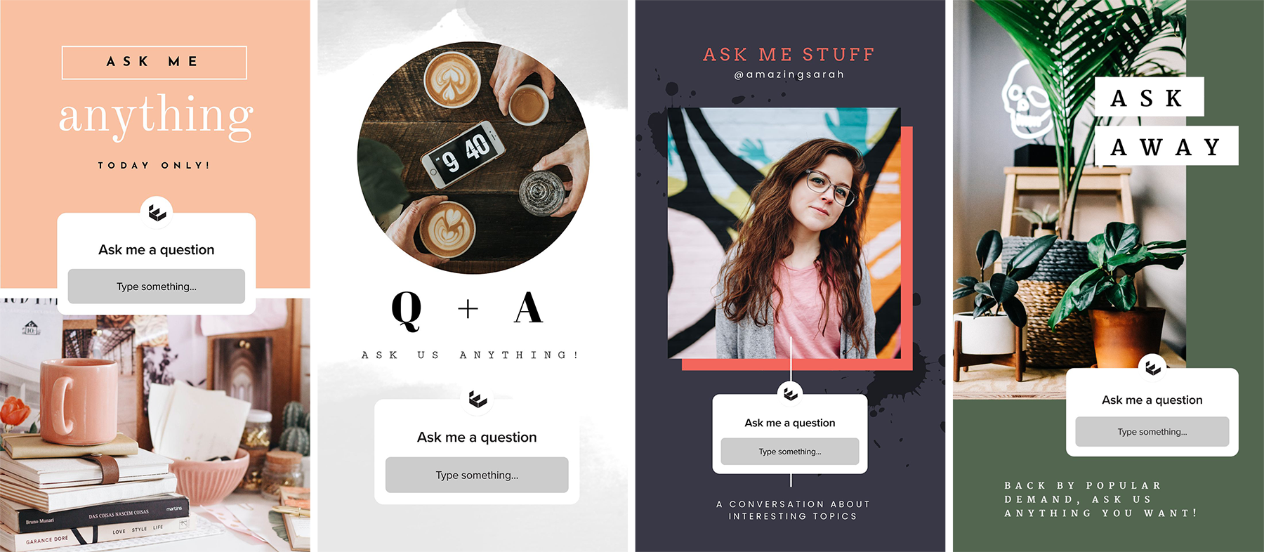 Ask Me Anything Templates for Instagram Stories - How to use Instagram Story Templates - 5 Examples to Boost Engagement