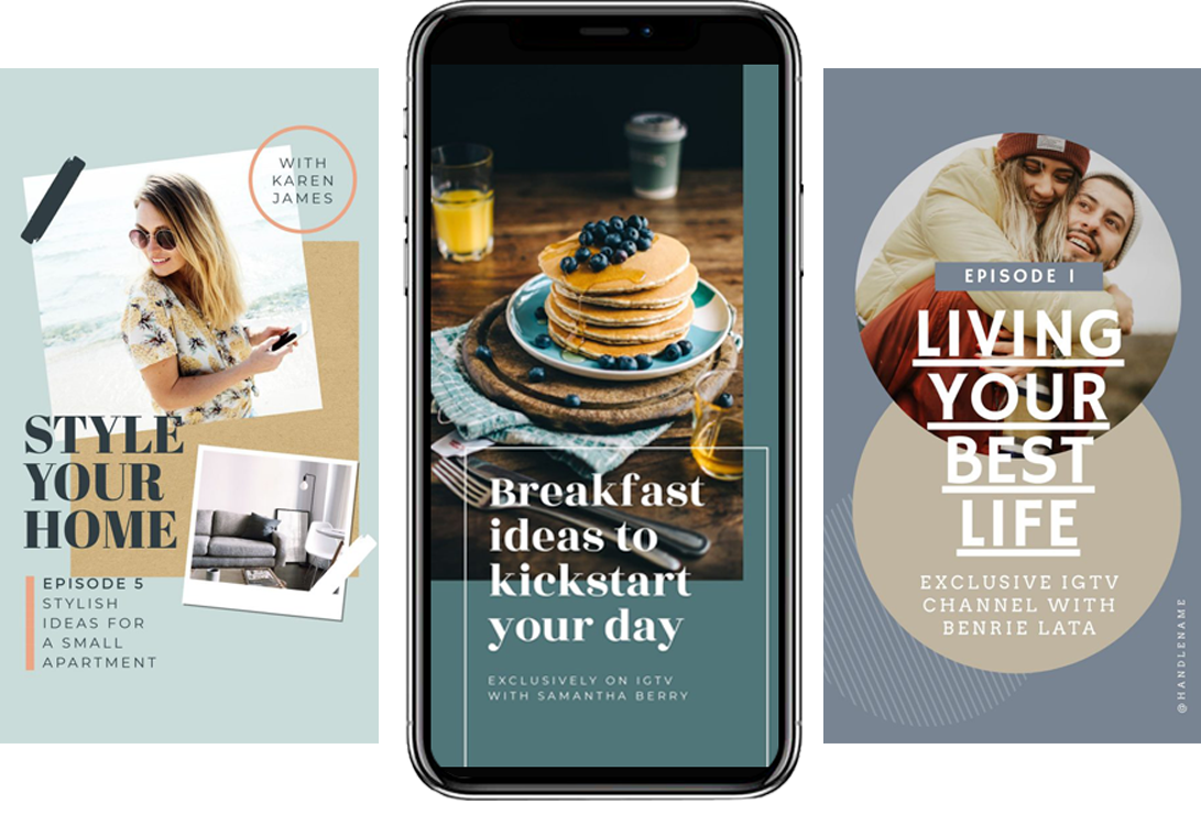 New IGTV Template - 17 Stunning IGTV Templates for your Instagram TV Channel