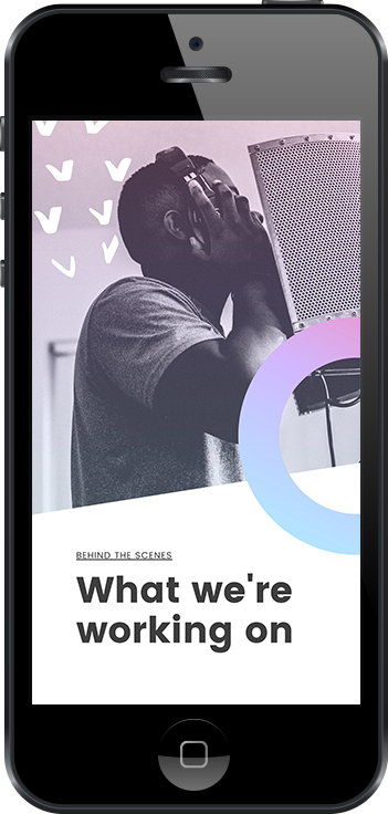 Instagram Stories free template for your behind the scenes story