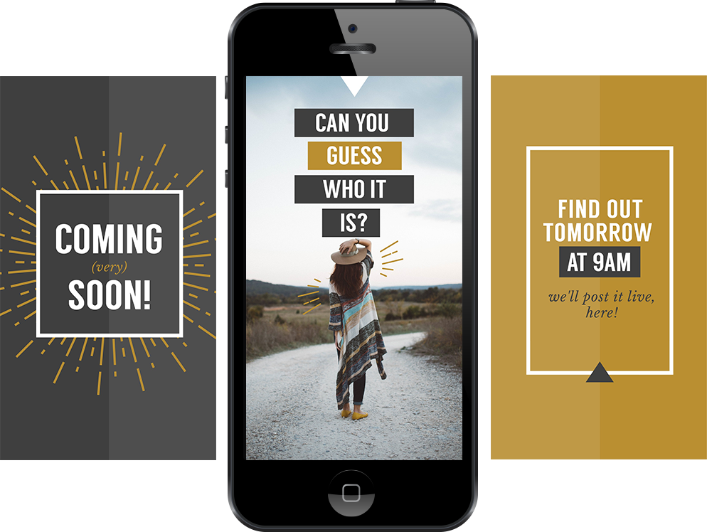 Free Instagram stories template for Coming soon annoucement