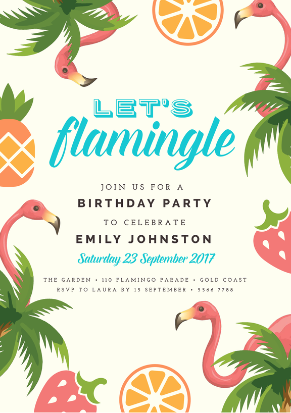 Design your own invitations with this Birthday Party template