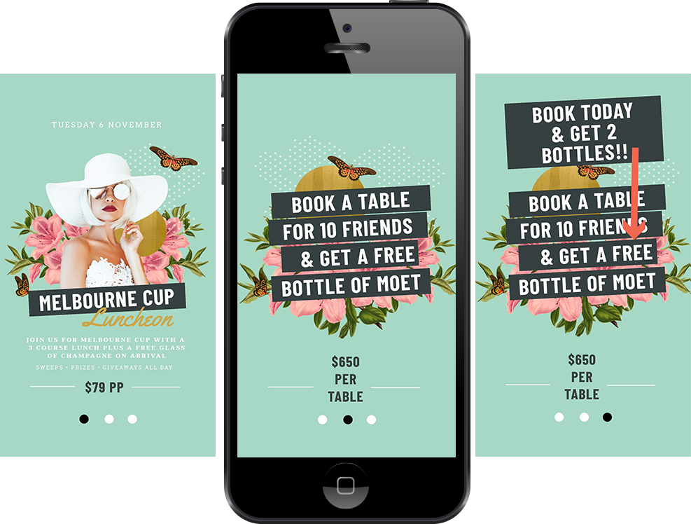Melbourne Cup Instagram Story Design - How to run a Successful Melbourne Cup Promotion without a Designer