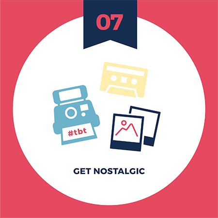 Make your brand story relatable with visuals tip number seven - get nostalgic
