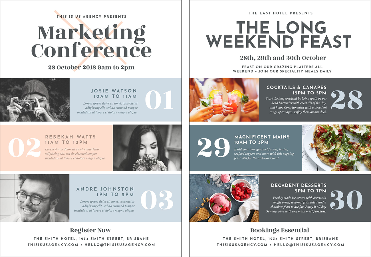 Conference Event Poster Template by Easil - How to Create 11 Stunning Poster Designs without a Designer