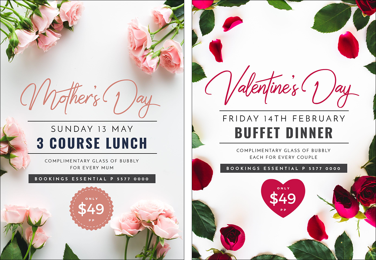 Mother's Day and Valentine's Day Poster Template Designs by Easil - Create 11 Stunning Poster Designs without a Designer