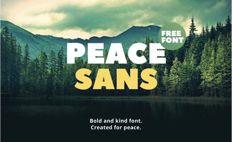 Peace Sans Font - 73 Best Free Fonts to Create Stunning Designs