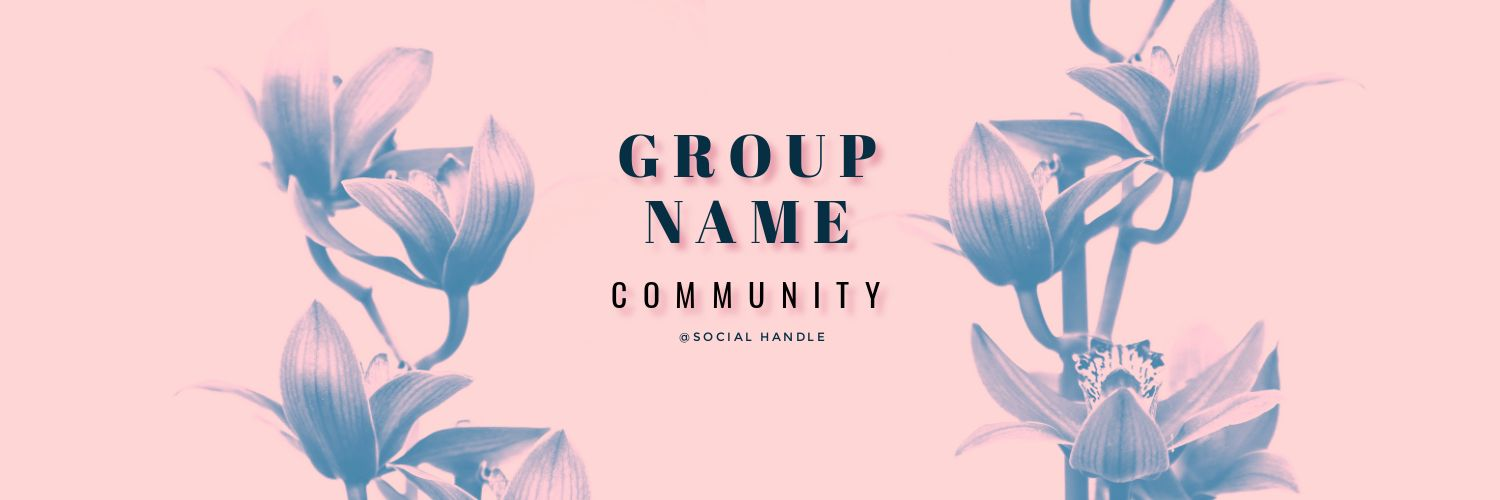 Pinterest Communities Pink Lillies Cover Image template - Pinterest Communities - What you need to know (Plus 15 Free Cover Templates)