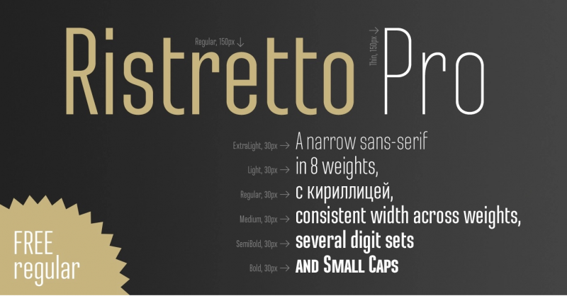 Ristretto Pro Font - 73 Best Free Fonts to Create Stunning Designs