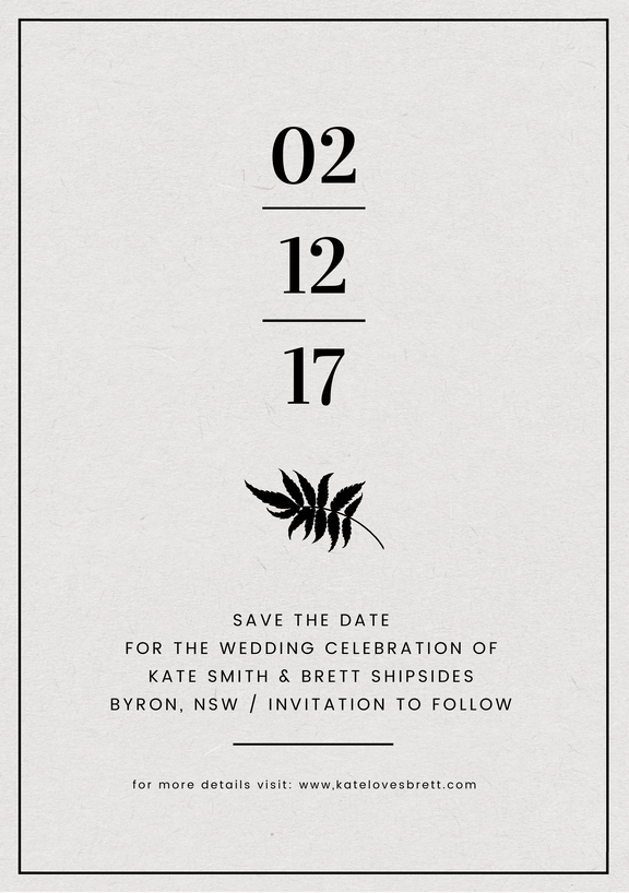 Design your own invitations with this Save the date template in Easil