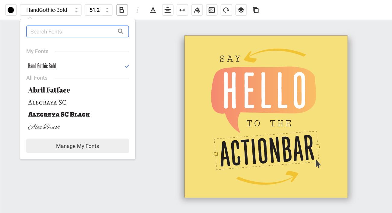 Basic design tools - actionbar