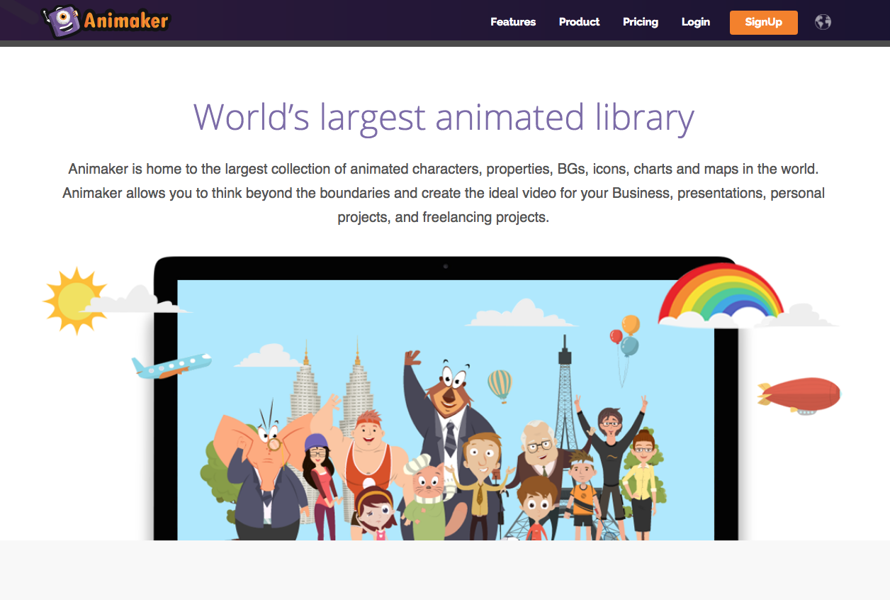 Animaker Website - 67 Awesome Visual Design Tools to Create Stunning Visual Content