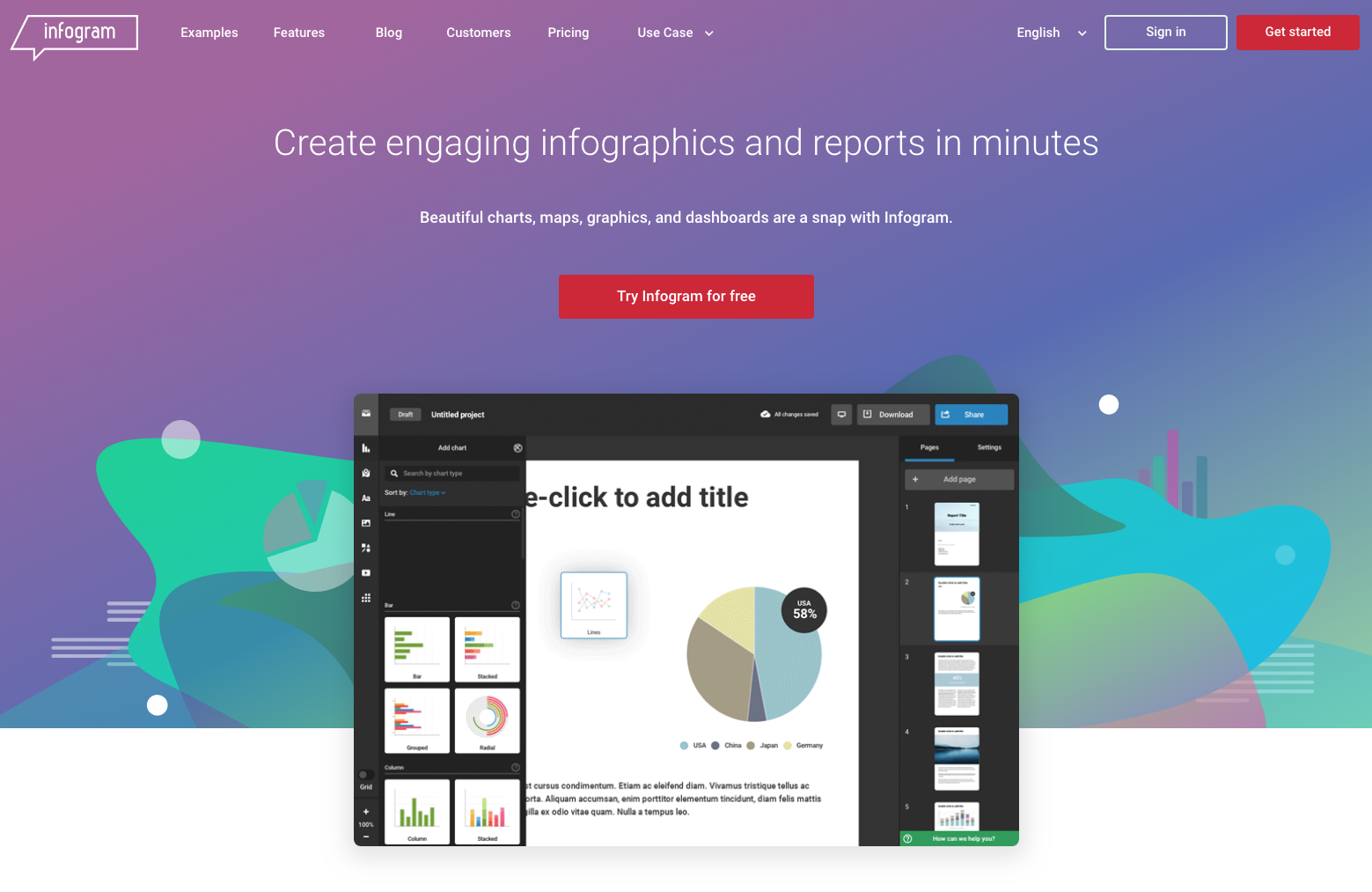 Infogram Website - 67 Awesome Visual Design Tools to Create Stunning Visual Content
