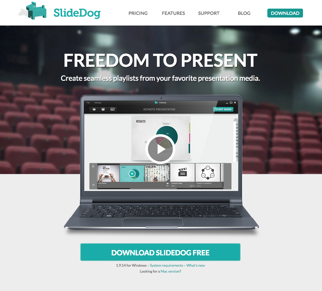 Slide Dog Website - 67 Awesome Visual Design Tools to Create Stunning Visual Content