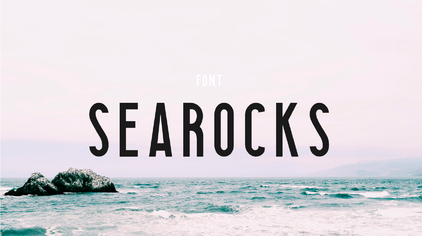 Searocks Font - 85 Cool Free Fonts for the Best DIY Designs in 2019