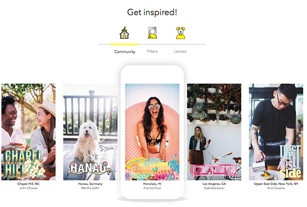 Snapchat filter examples