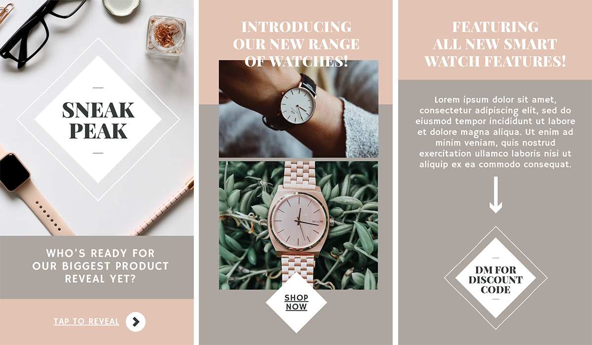 Sneak Peek Product Highlight - Instagram Story Template - 11 Quick & Easy Instagram Story Ideas for When You Need Inspiration
